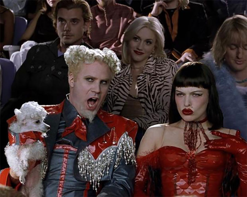 Screen grab of the scene in Zoolander when Muguatu says That Hansel's so hot right now