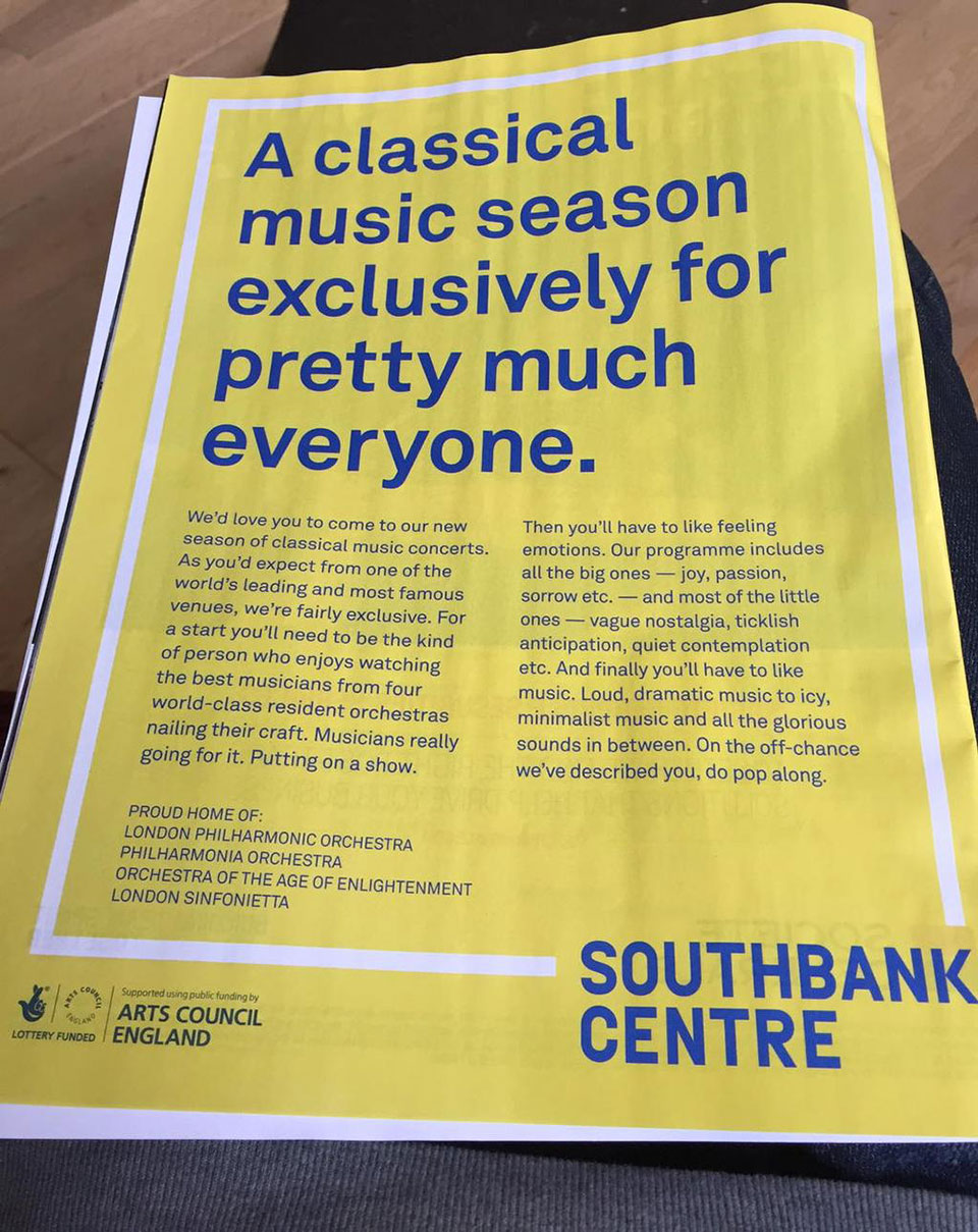 Southbank Centre ad